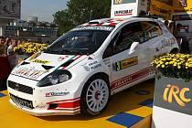 Giandomenico Basso pilotuje v seriálu IRC vůz Fiat Grande Punto Abarth.