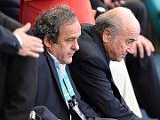Michel Platini a Sepp Blatter
