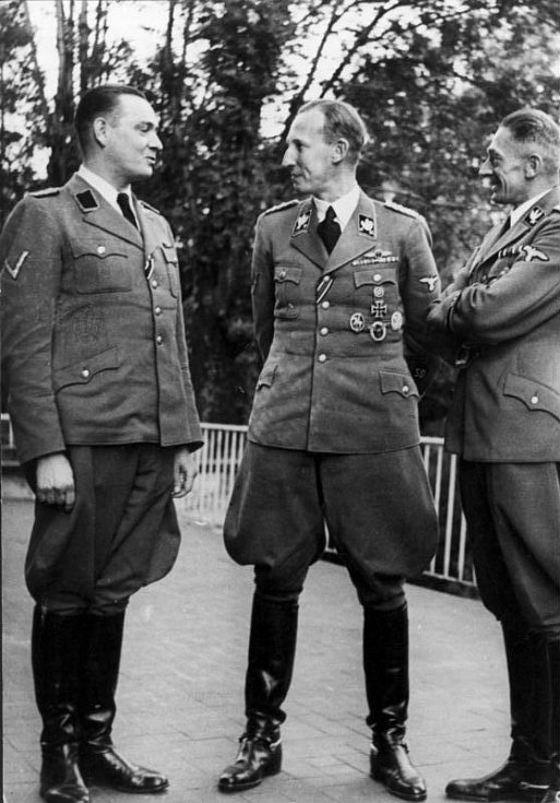Horst Böhme, Reinhard Heydrich a Karl Hermann Frank v září 1941
