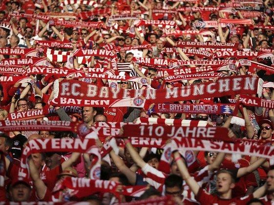 Fanoušci Bayernu Mnichov.