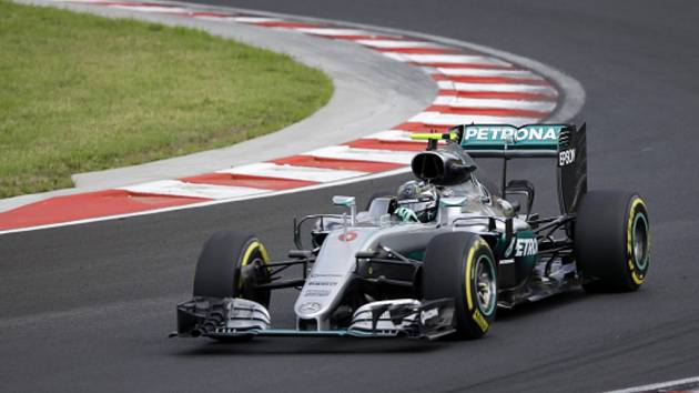 Nico Rosberg v tréninku na Velkou cenu Maďarska.