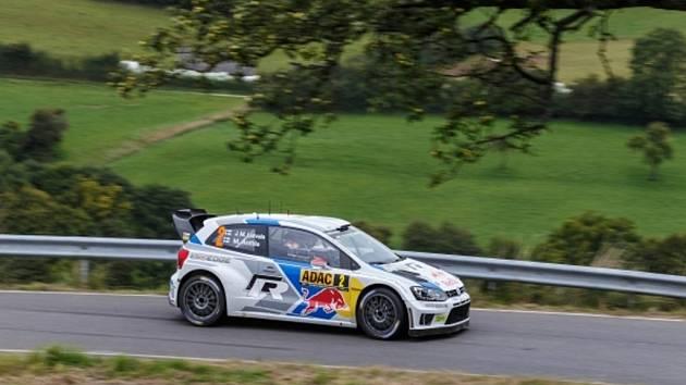 Jari-Matti Latvala na Německé rallye.