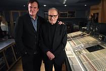 Ennio Morricone a Quentin Tarantino ve studiu.