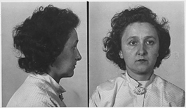 Ethel Rosenbergová na identifikačních policejních snímcích