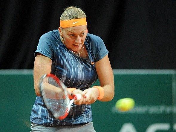 Petra Kvitová na turnaji v Katovicích.
