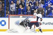 Zápas NHL mezi Tampou Bay a Washingtonem.
