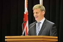 Novozélandský premiér Bill English.
