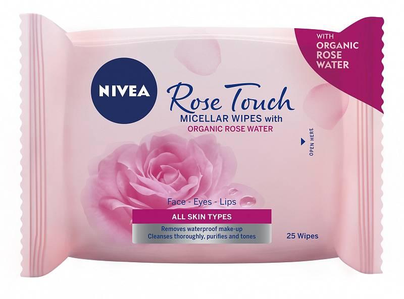 Micelární čisticí pleťové ubrousky Rose Touch, Nivea, 145 Kč