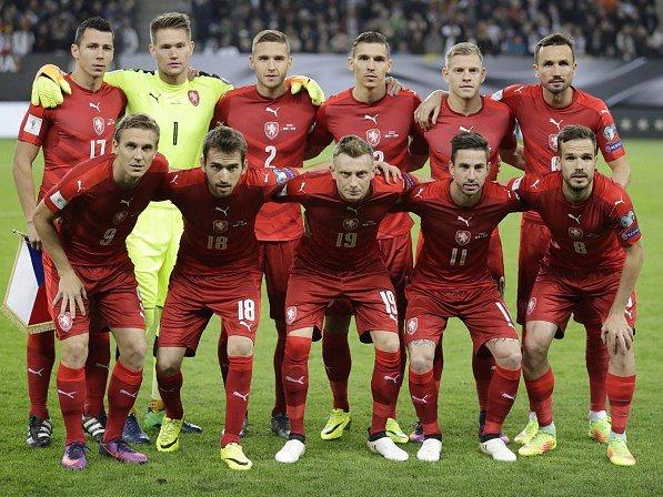 Český tým před zápasem s Německem