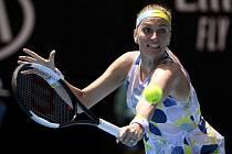 Česká tenistka Petra Kvitová ve čtvrtfinále Australian Open.