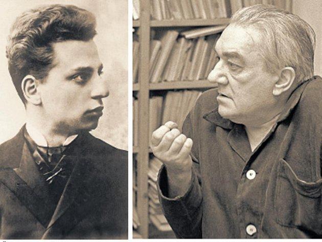 Spřízněni duchem. Básníci Rainer Maria Rilke (vlevo) a Vladimír Holan.