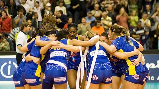 Volejbalistky Prostějova slaví důležitou výhru v Lize mistryň nad Bielsko-Bialou.