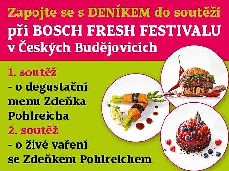 Zapojte se s Deníkem do soutěží při Bosch Fresch Festivalu