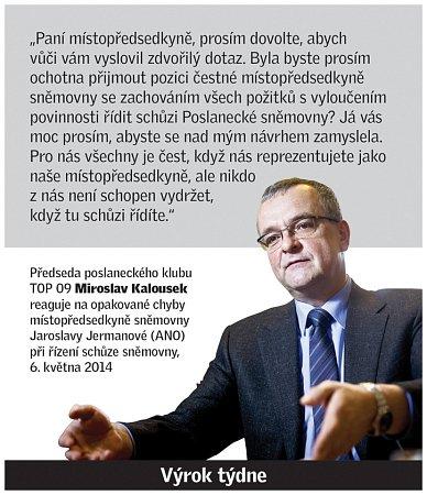 Kalouskův citát