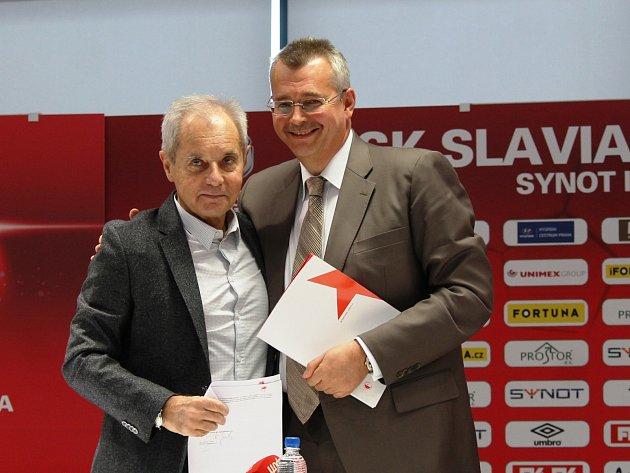 """Osobnosti """"nové"""" Slavie: Jiří Šimáně a Jaroslav Tvrdík"""