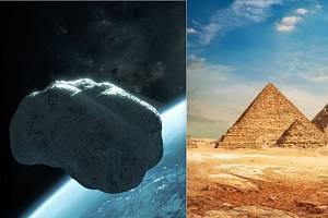 Velikost asteroidu 465824 přesahuje podle odhadů dvakrát velikost pyramid v Gíze