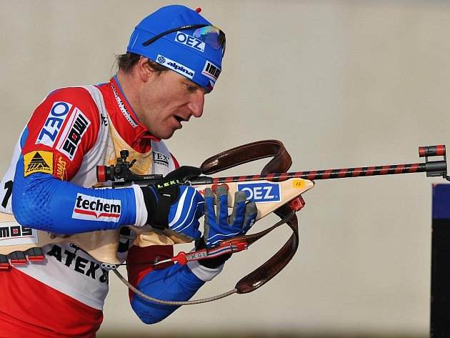 Biatlonista Zdeněk Vítek.