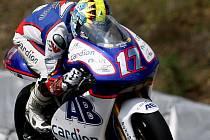 Grand Prix České republiky silničních motocyklů, páteční trénink:  Karel Abraham, Aprilia 250.