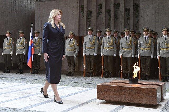 Zuzana Čaputová při oslavách 75. výročí SNP