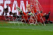 Arjena Robbena z Bayernu Mnichov zastavila až síť.