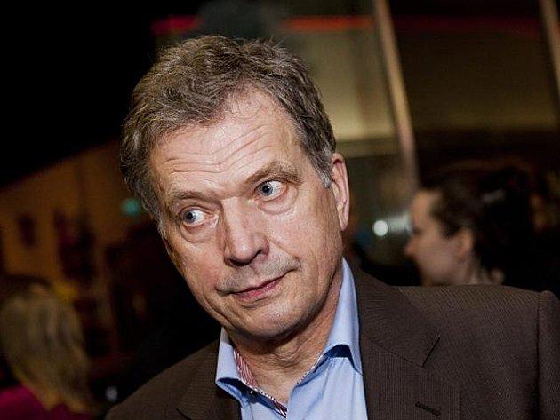 Sauli Niinistö, konzervativní kandidát na finského prezidenta.