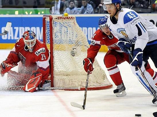 Tomáš Vokoun se proti Finsku blýskl vynikajícím výkonem.