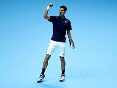 Novak Djokovič vyhrál na Masters i druhý zápas ve skupině.