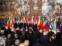 Summit lídrů 27 zemí Evripské unie se v Římě.