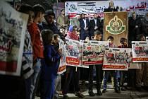 Protesty proti záměru USA uznat Jeruzalém za hlavní město Izraele