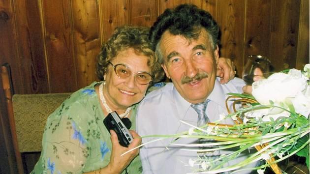 František Kolečkář s manželkou
