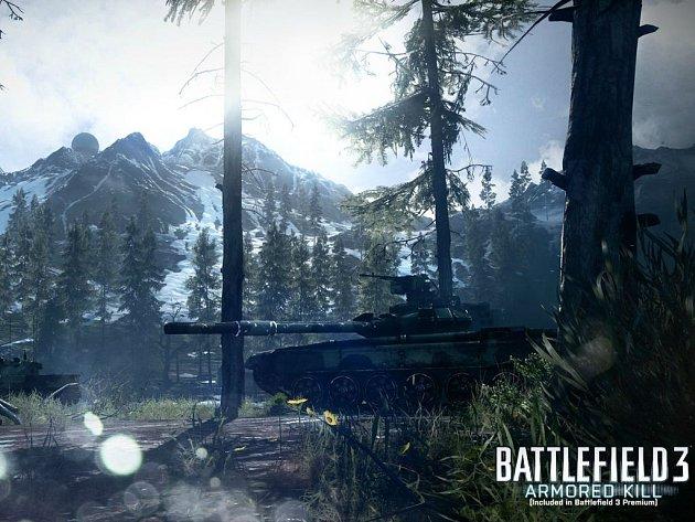 Počítačová hra Battlefield 3: Armored Kill.