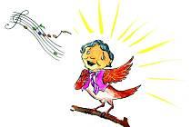 Pohádkovou knihu Jak maminka vylezla na věž rozhlasové reportérky Michaely Veteškové ilustrovala Lucie Siefertová. Namalovala i slavíka Karla Gotta.