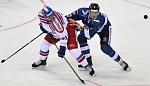 Utkání hokejového Channel One Cupu: ČR - Finsko, 13. prosince v Praze.