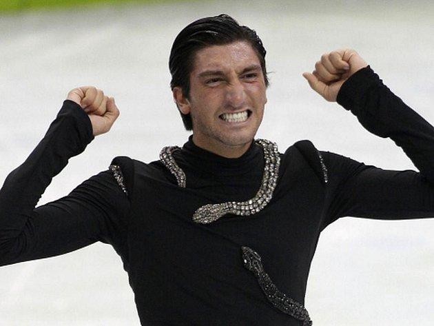 Evan Lysacek byl se svým výkonem spokojen, vynesl mu zlatou medaili.