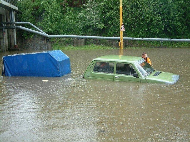 Povodeň na Karvinsku v roce 2010.