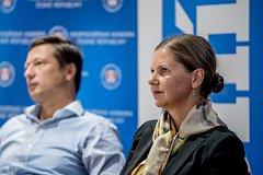 Předvolební debata před komunálními volbami probíhala 20. září v Praze v Hospodářské komoře. Na snímku Lenka Burgerová z Praha sobě.