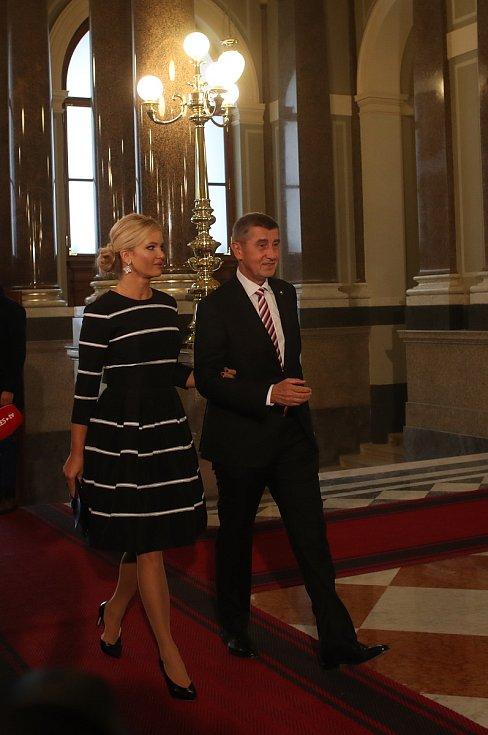 Slavnostní otevření Národního muzea v Praze. Andrej Babiš s manželkou Monikou.