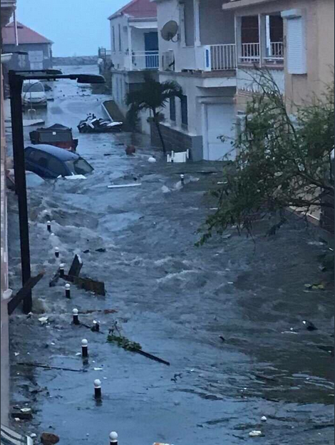 Spoušť, kterou na ostrově Svatý Martin zanechal hurikán Irma