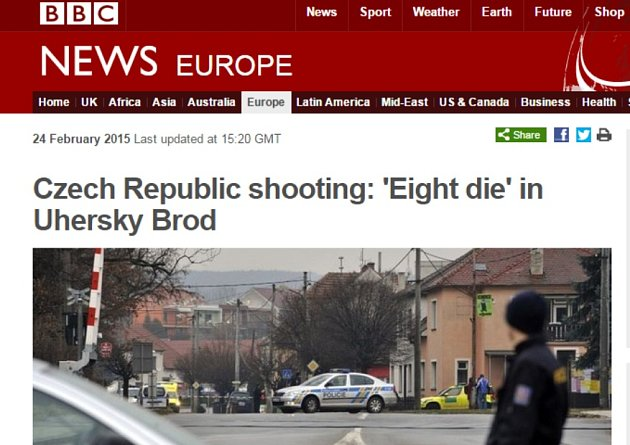 Britský server BBC informuje o tragédii v Uherském Brodě.