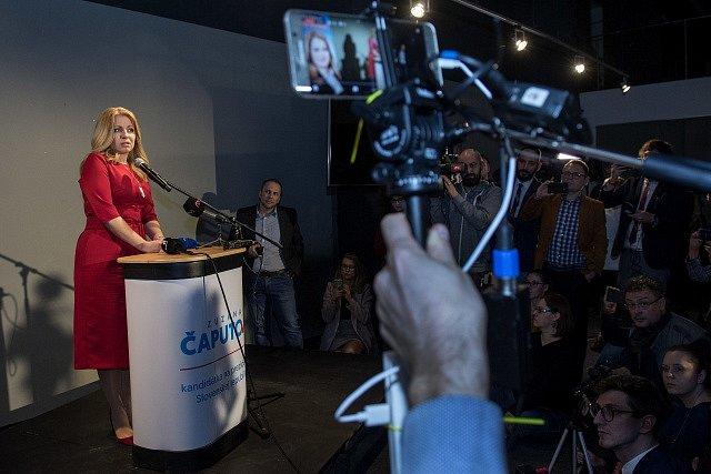 Zuzana Čaputová před novináři