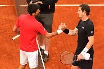 Novak Djokovič a Andy Murray ve finále turnaje v Madridu.
