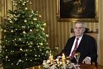 Prezident Miloš Zeman 26. prosince 2019 na zámku v Lánech