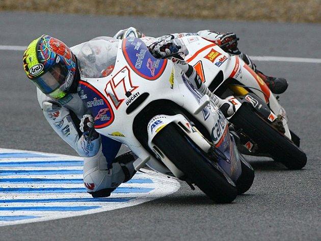 Karel Abraham při Grand Prix Španělska.