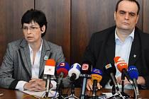 Ministrině spravedlnosti Lucia Žitňanská a poslanec Pavol Frešo