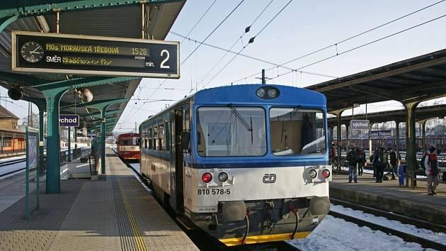 Motorový vůz 810 v České Třebové