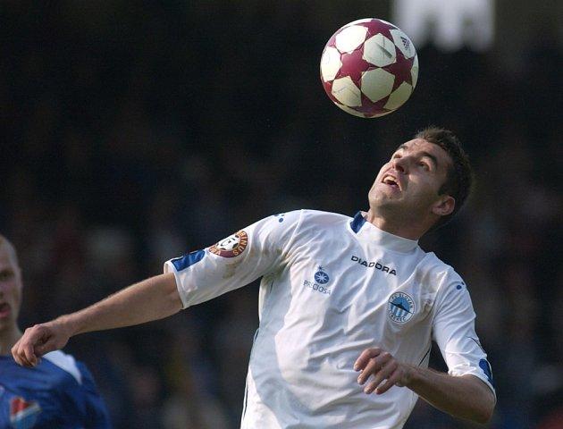 Fotbalový útočník Michal Pospíšil hrál v Česku nejen za Spartu, ale i třeba za Liberec (snímek je z roku 2005).