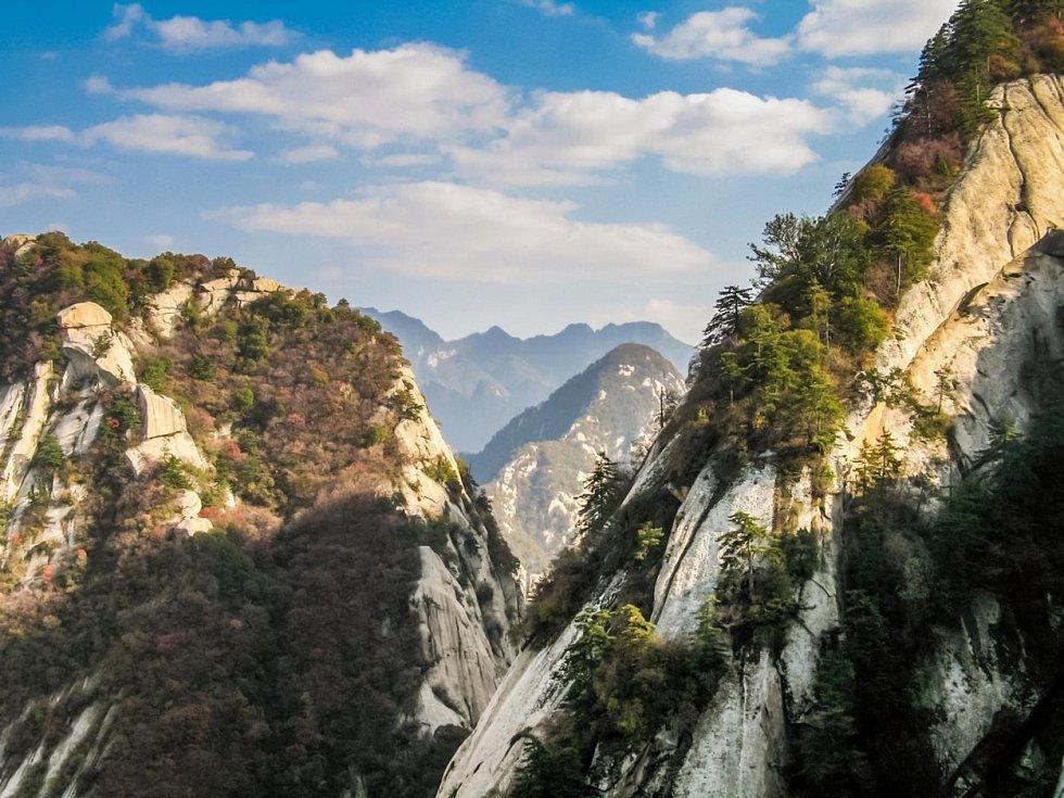 Výhled z hory Chua-šan