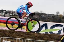 Závod žen na MS cyklokrosařů ve švýcarském Dübendorfu. Jedenáctá dojela Kateřina Nash.