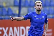 Fotbalista Liberce Jan Kuchta (na snímku z 8. března 2020).