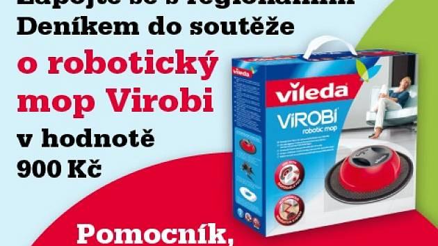 Zapojte se s námi do soutěže o robotický mop Virobi v hodnotě 900,- Kč